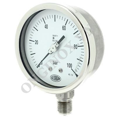 Báo giá Đồng hồ áp suất loại có dầu, kèm ống siphon, inox 316L ngày 14/10/2020 2